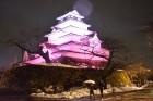 お城ライトアップ(堀金)
