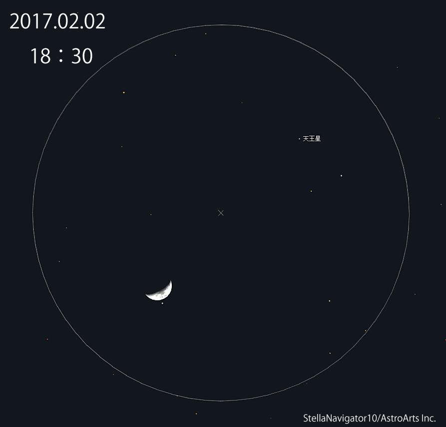 天王星月接近20170202_1830
